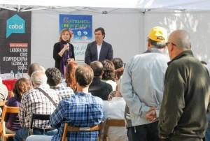 L'alcaldessa, Lluïsa Moret, intervé durant l'acte de presentació // Ajuntament de Sant Boi