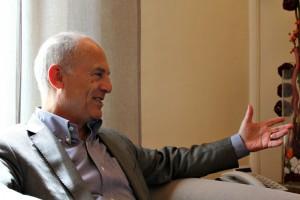 Jaume Bosch durant l'entrevista amb dSantBoi // David Guerrero