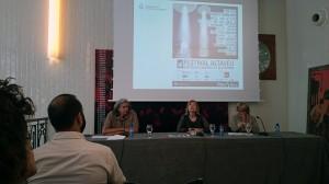 Imatge de la roda de premsa feta a l'antiga Fàbrica Damm de Barcelona // Festival Altaveu