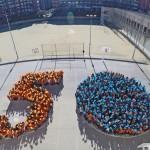 Un 50 fet amb els alumnes va servir per celebrar l'aniversari a l'escola // Ajuntament de Sant Boi