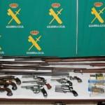 El depósito incautado constaba de 19 armas antiguas y munición // Guardia Civil
