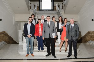 Els ponents de la jornada sobre cooperació internacional que va tenir lloc al Senat // Web Senat Espanyol