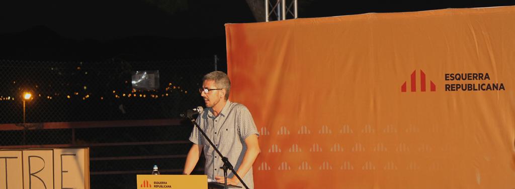 Miquel Salip, candidat de ERC a la ciutat, es va mostrar convençut de que els propers anys seran els millors de la seva vida. // Maria Roda