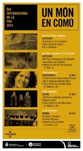 Cartell de les activitats per celebrar el Dia Internacional de la Pau a Sant Boi. // Cooperació Sant Boi