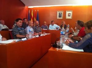El ple ordinari de setembre, moments abans de votar la polèmica moció de suport al 9N. // Maria Roda