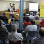 Més de 50 persones van assistir a la presentació de la segona fase de la campanya 'Ara és l'Hora' // Maria Roda
