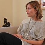 L'alcaldessa Lluïsa Moret durant l'entrevista amb dSantBoi // David Guerrero