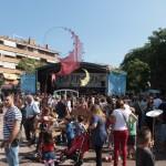 Els santboians han omplert la plaça Teresa Valls i Diví els 3 dies del Barrejant // Maria Roda