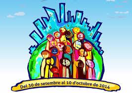 Cartell el projecte 'Ciutats Constructores de Pau' organitzat per l'Ajuntament de Sant Boi.