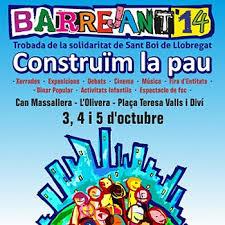 Cartell de l'edició del Barrejant d'enguany sota el lema 'Construïm la pau'.