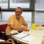 Chema Caballero durant l'entrevista amb dSantBoi a L'Olivera // Andrés Pino