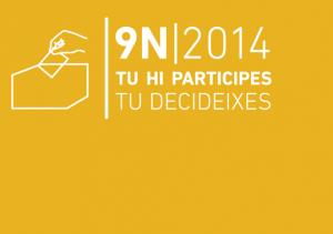 Tu hi participes, tu decideixes és el lema triat per la Generalitat per animar a tothom a votar el 9N.