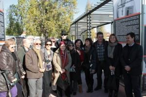 Alguns dels rostres que apareixen a l'exposició van assistir a la seva inauguració // Maria Roda