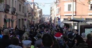 El carrer Lluis Pascual Roca durant la campanya Viu el carrer el Nadal de l'any passat // El Carrer