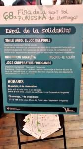 Cartell que mostrava les activitats organitzades per Frikigames durant la Fira de la Puríssima // Alberto Martínez