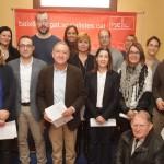 L'alcaldessa, Lluïsa Moret (quarta per l'esquerra), ha estat una de les socialistes que ha presentat el manifest // PSC Baix Llobregat