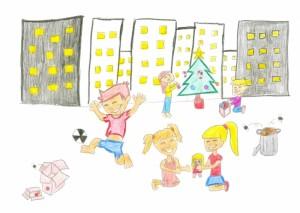 El dibuix de la jove santboiana Claudia Ruiz il·lustrarà la felicitació de Nadal de la Fundació Príncep de Girona d'aquest any. // Fundació Marianao