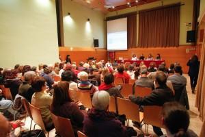 Can Massallera es va quedar petita per acollir a les més de 100 persones que van assistir a l'acte. // Ajuntament de Sant Boi