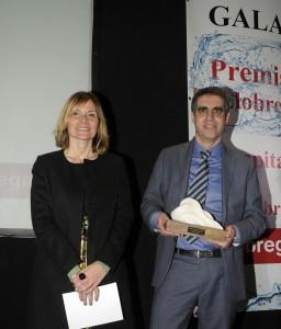 Lluïsa Moret i Manell durant la gala d'entrega // El Llobregat