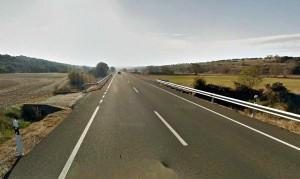 Imagen de la carretera N-230 en el término municipal de Alcampell, lugar donde se ha producido el accidente // Google Maps