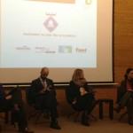 Representants de les empreses santboianes i l'alcaldessa, Lluïsa Moret, a la trobada de ciutats de la xarxa Innpulso // Ajuntament de Sant Boi