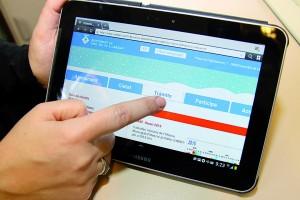 La pàgina web de l'Ajuntament vista des d'una tablet // Ajuntament de Sant Boi