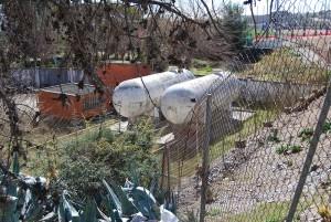 Els dipòsits de gas de Camps Blancs // Ajuntament de Sant Boi