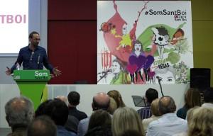 Joan Herrera durant el seu discurs // Jose Polo