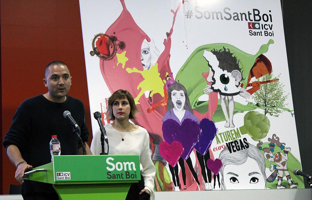 Josep Puigdengoles i Alba Martínez durant l'acte // Jose Polo