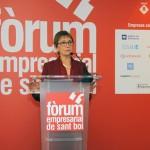Eugenia Bieto durant la seva ponència al Fòrum Empresarial de Sant Boi // Ajuntament de Sant Boi