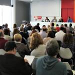 La jornada de treball dels socialistes s'ha realitzat a la biblioteca Jordi Rubió i Balaguer // David Guerrero