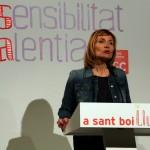 Lluïsa Moret va fer un discurs contundent i amb seguretat // David Guerrero