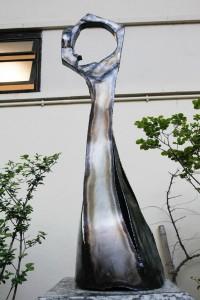 L'escultura d'homenatge a Josep Fabregat és obra de l'artista local Ferran Soriano // Ajuntament de Sant Boi