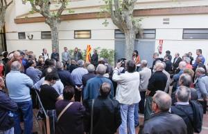 Instant de l'acte d'homenatge // Ajuntament de Sant Boi