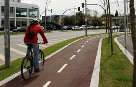 El carril bici actualment va de Casablanca a l'institut ítaca a la carretera Santa Creu de Calafell // Ajuntament de Sant Boi