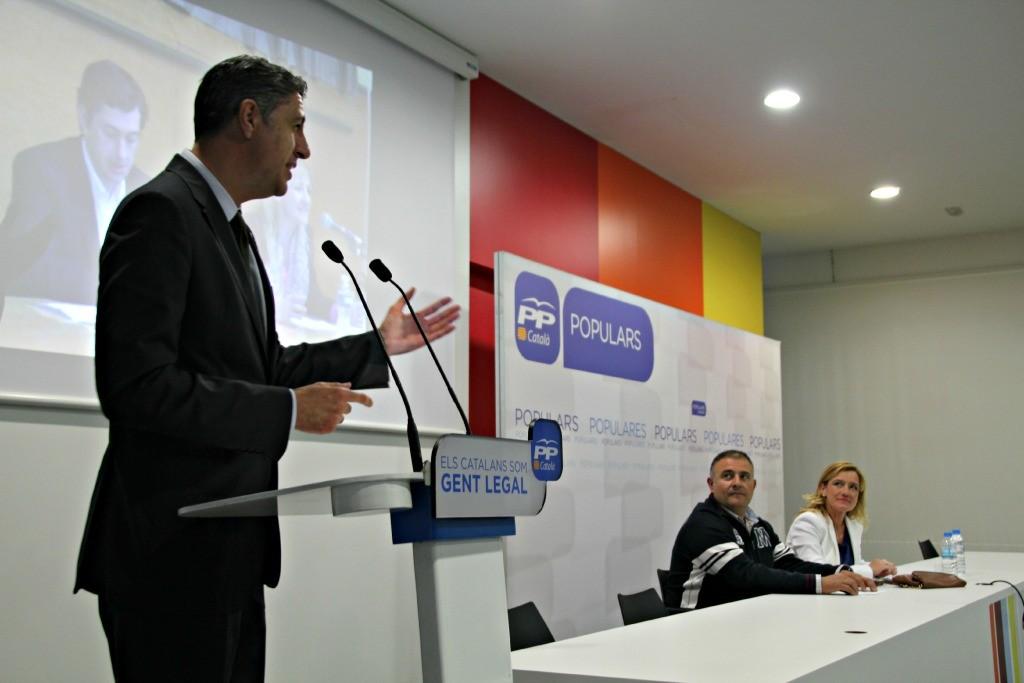 Xavier García Albiol ha puesto su trabajo en Badalona como ejemplo a seguir en Sant Boi // David Guerrero