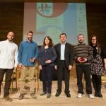 Els empresaris santboians que han aconseguit una menció als Premis Delta acompanyats del tinent d'alcalde José Ángel Carcelén // Ajuntament de Sant Boi