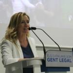Marina Lozano durante su intervención en la presentación como candidata a la alcaldía // David Guerrero