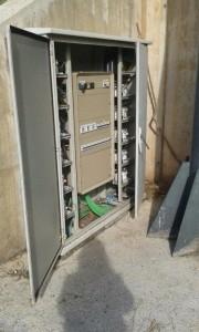 Els lladres van robar el cablejat de les torres de llum de l'estadi // FC Santboià