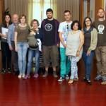 """Els participants de la dotzena de projectes presentats a """"CoBoi Innova"""" a l'Ajuntament // Ajuntament de Sant Boi"""