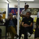D'esquerra a dreta, Juan Antonio Tamayo, Josep Puigdengolas i Xavier Padrós, a la reunió. // Elisenda Colell