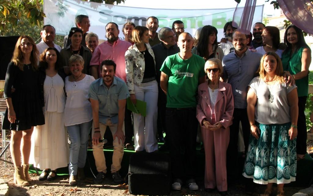 Fotografia de família de tots els integrants de la candidatura d'ICV-EUiA-MES // David Guerrero