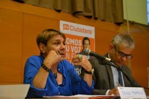 Olga Puertas, en su discurso. // Elisenda Colell
