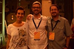 D'esquerra a dreta: Rosa Berrio (número 2), Miquel Salip (cap de llista) i Jaume Sans (número 3) // Maria Rubio