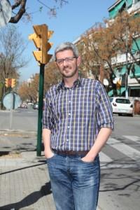 Miquel Salip després de ser entrevistat per dSantBoi // Andreu Ferrer