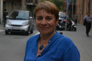 Olga Puertas, candidata a la alcaldía de Ciudadanos, a las puertas de Can Massallera // Elisenda Colell