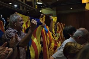 El col·lectiu independentista, present entre el públic // Maria Rubio