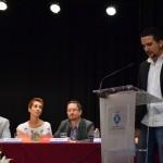Jordi Garcia, en el moment de jurar el seu càrrec com a regidor // Maria Rubio