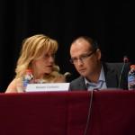 Marina Lozano i Rafael Cañedo en la constitució del nou ple // Maria Rubio