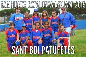 Imatge de l'equip benjamí femení del Sant Boi // CBS Sant Boi